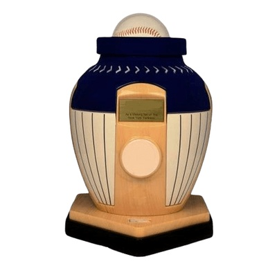 New York Yankees Baseball Cremation Urn