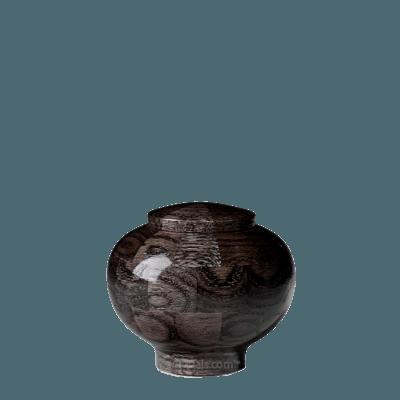 Noir Keepsake Wood Urn