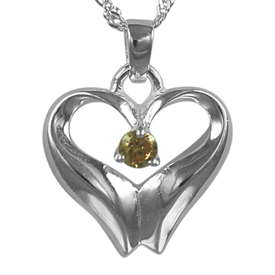 November Birthstone Cremation Heart