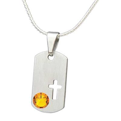 November Cross Cremation Pendant