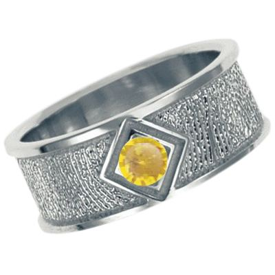 November Birthstone 14k White Gold Ring Print Keepsakes