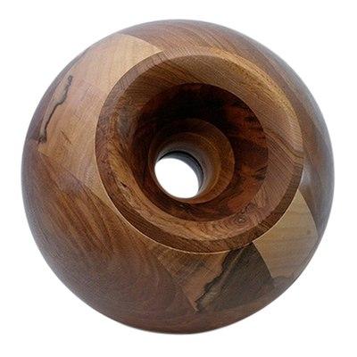 Nut Sphere Wood Pet Urn