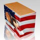 US Flag Pet Picture Oak Urns