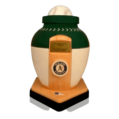 Oakland Athletics Baseball Cremation Urn