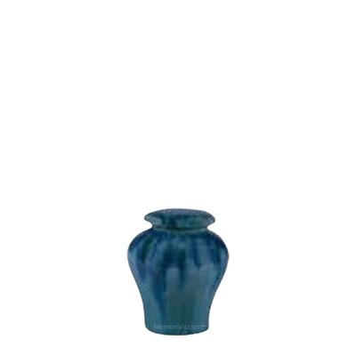 Ocean Blue Ceramic Keepsake Urn