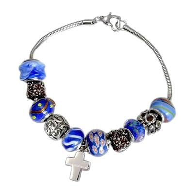 Ocean Cross Cremation Bracelet