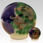 Ocean Orb Glass Pet Urns