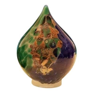 Ocean Tear Glass Pet Urn