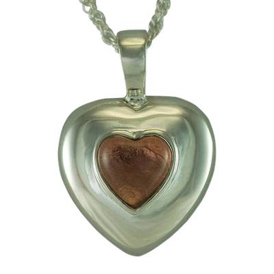 October Cremation Heart Pendant