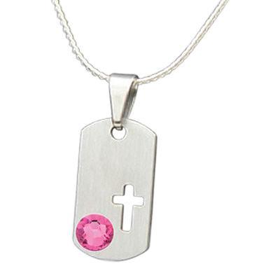 October Cross Cremation Pendant
