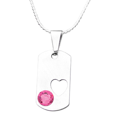 October Heart Cremation Pendant