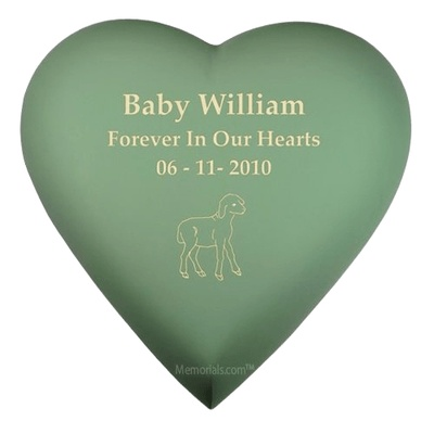Olive Heart Child Cremation Urn