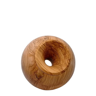 Olive Orb Small Wood Urn