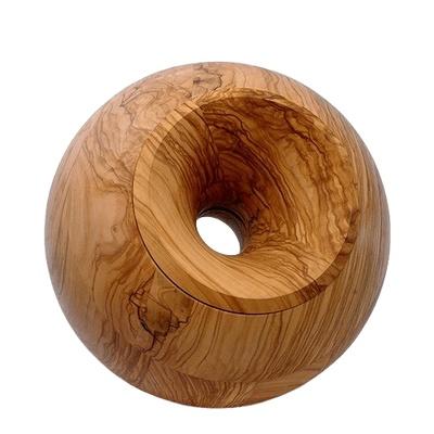 Olive Orb Wood Urn