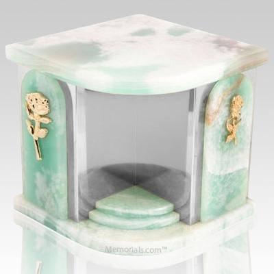 Onyx Church Silver Urn For Two