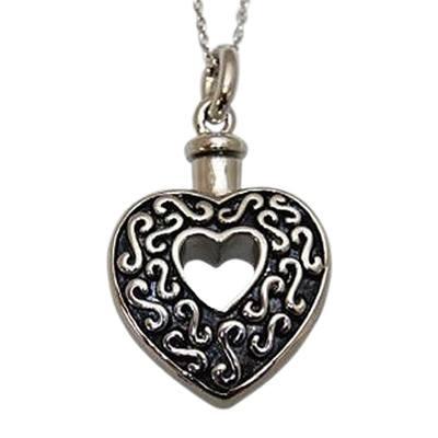 Open Heart Keepsake Pendant