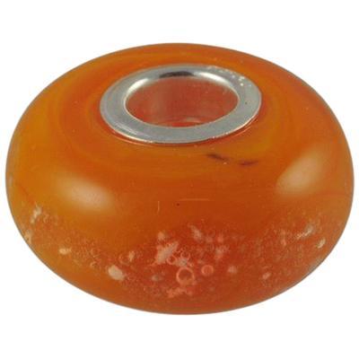 Orange Elegance Cremation Ash Bead