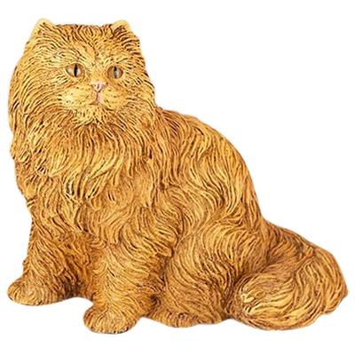 Orange Longhair Cat Cremation Urn
