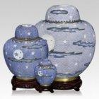 Oriental Night Cloisonne Cremation Urns