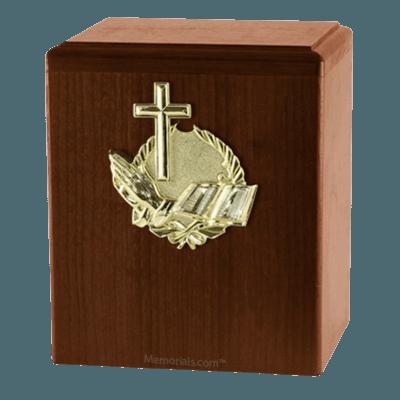Our Prayer Walnut Cremation Urn