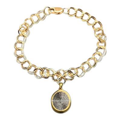 Ovalo 14k Gold Cremation Print Bracelet