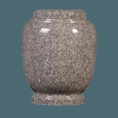 Oxford Gray Granite Cremation Urn