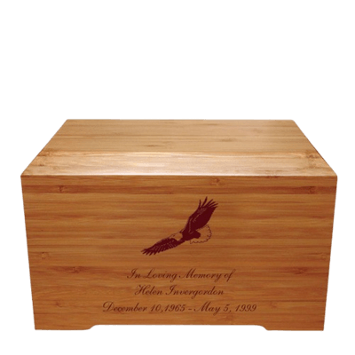 Eagle Bamboo Distinction Green Cremation Urn