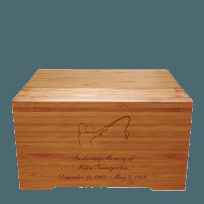 Fisherman Bamboo Distinction Green Cremation Urn