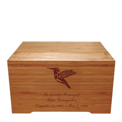 Hummingbird Bamboo Distinction Green Cremation Urn