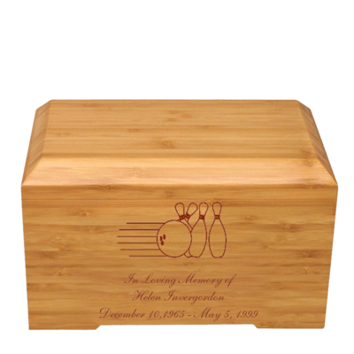 Bowling Pins Bamboo Essence Cremation Urn