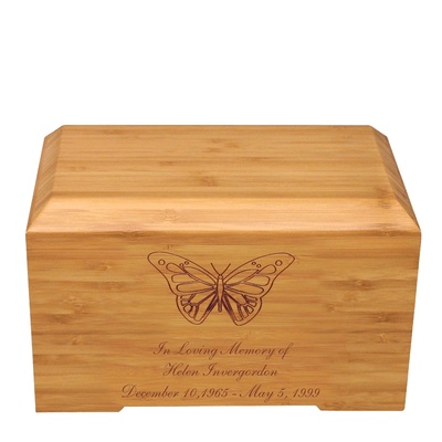 Butterfly Bamboo Essence Cremation Urn