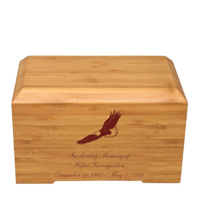 Eagle Bamboo Essence Cremation Urn