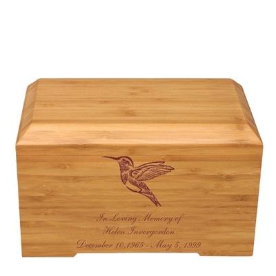 Hummingbird Bamboo Essence Cremation Urn