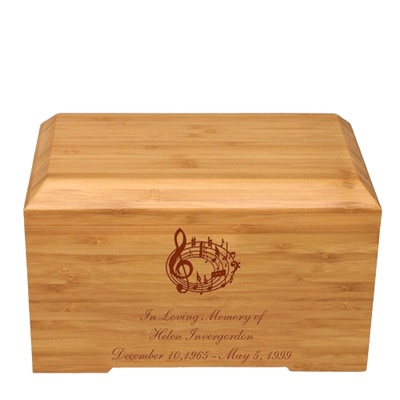 Music Notes Bamboo Essence Cremation Urn