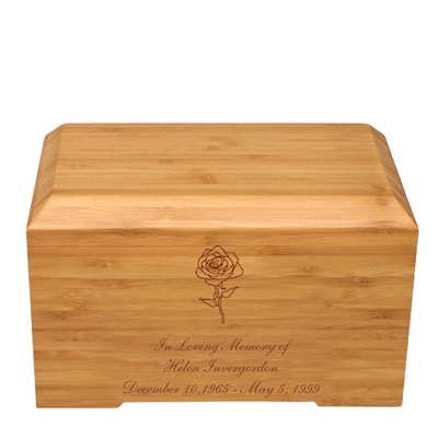Rose Bamboo Essence Cremation Urn