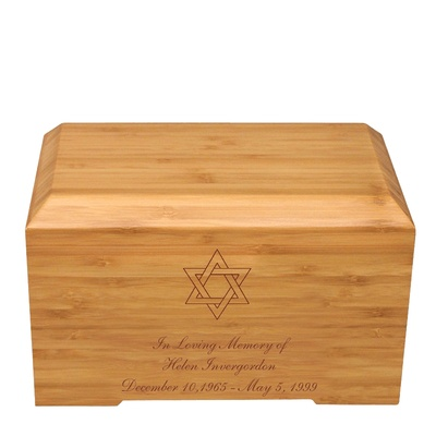 Star of David Bamboo Essence Cremation Urn