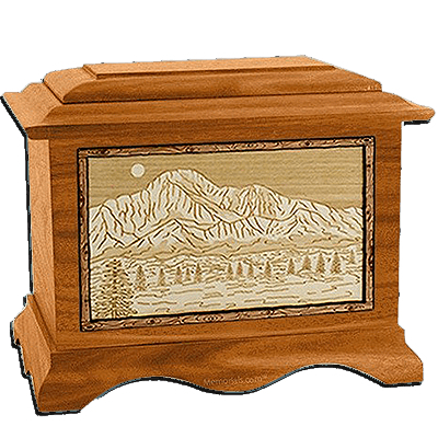 Pikes Peak Mahogany Cremation Urn For Two