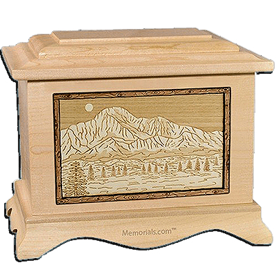 Pikes Peak Maple Cremation Urn For Two