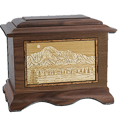 Pikes Peak Walnut Cremation Urn For Two