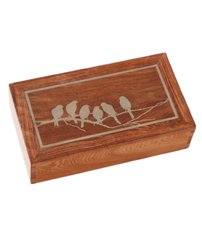 Pajaritos Wood Cremation Urns