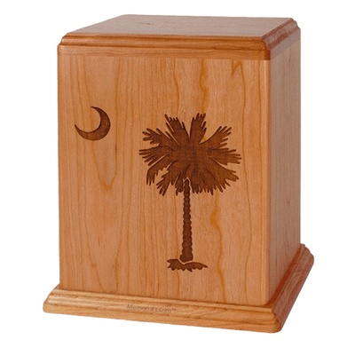 Palm Cherry Wood Cremation Urn
