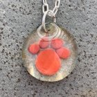 Paw Cremation Ash Necklace