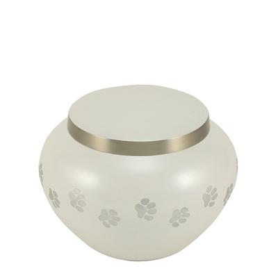 Paw Print Pearl Small Pet Urn