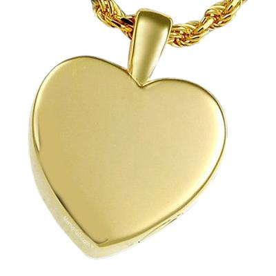 Peaceful Heart Cremation Pendant II
