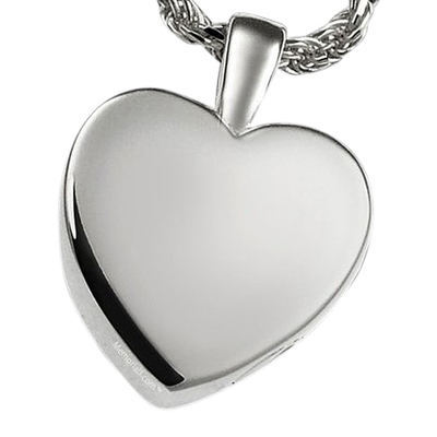 Peaceful Heart Cremation Pendant