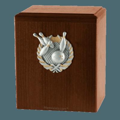 Perfect Strike Walnut Cremation Urn
