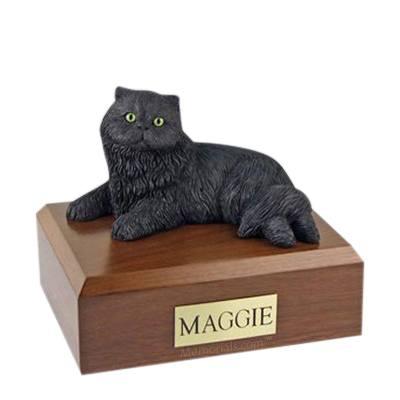 Persian Black Large Cat Cremation Urn