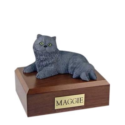 Persian Grey Medium Cat Cremation Urn