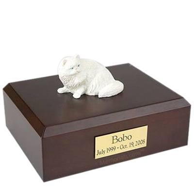 Persian White Laying X Large Cat Cremation Urn
