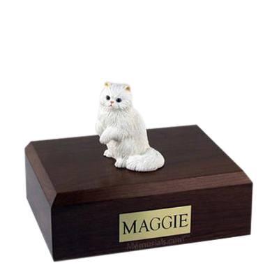 Persian White Paw Large Cat Cremation Urn